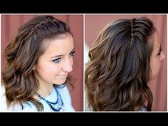 DIY Faux Waterfall Headband.  So easy! #waterfallbraid #waterfall #hairstyles #hairstyle #braid #headband #cutegirlshairstyles