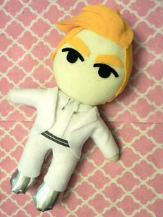 KPOP Kris Wu Yi Fan Plushie plush toy doll Overdose by kirbychan. For more exo and fanmade kpop goodies please visit my etsy store!
