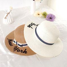 eb73e279e11 2017 New Summer Women Sun Hat Ladies Wide Brim Straw Hats Outdoor Foldable  Beach Panama Hats