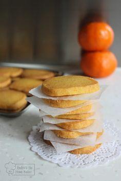 Orange Cornmeal Shortbread