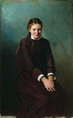 """""""Girl Student"""" by Nicolai Yaroshenko"""
