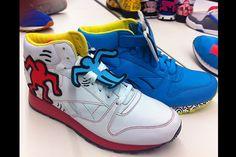 Keith Haring x Reebok Leather Mid Lux #sneakers #fun