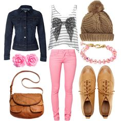 """fall and pink"" by victoria-publicover on Polyvore"
