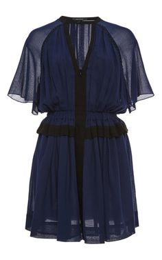 Retra Pleated Bicolor Dress  by ISABEL MARANT Now Available on Moda Operandi