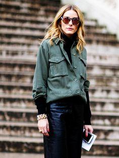 Wir lieben Olivia Palermos Shirt-Style: Sie trägt jetzt nämlich die ideale Verschmelzung von Shirt und Jacke - die Shacke.