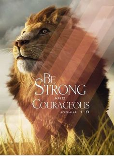 Joshua 1:9 Be strong and courageous. Lion of Judah is on your side.