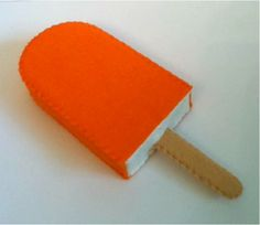 felt food creamsicle any flavour ICE CREAM lolly any flavour