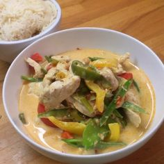 """Try this sexy thai red curry in a hurry today. Ready in under 15 minutes and that's why we call it #Leanin15 You can batch cook it and store it…"""