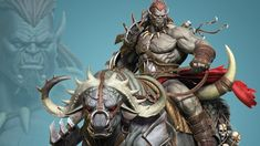 Orc Rider and Bull Creature Creation in Zbrush Zbrush, 3d Character, Character Design, Orc Armor, 3d Sketch, Humanoid Creatures, Good Poses, Speed Paint, Fantasy Characters