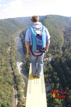 Base Jumping from the New River Gorge Bridge in West Virginia, USA Base Jumping, Bungee Jumping, Virginia Homes, West Virginia, Town And Country, Country Roads, West Va, New River Gorge, Whitewater Kayaking