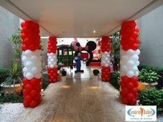 BLOG DA CENÁRIO: Balões; decoração com balões; Cenário Balões; Disney; Mickey; Minnie; Roberto Justus; Ticiane Pinheiro; Rafaella