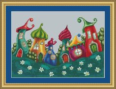 Hey, I found this really awesome Etsy listing at https://www.etsy.com/au/listing/474980476/enchanted-village-cross-stitch-pattern