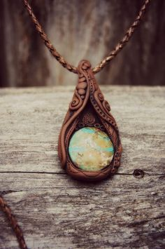 Earth Magic Necklace with Sea Sediment Jasper - OOAK - Unisex - Free Shipping - Handcrafted on Etsy, $121.88