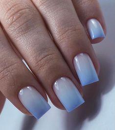 Light Blue Nail Designs, Light Blue Nails, Gel Nails, Hair Beauty, Nail Art, Manicure Ideas, Airbrush, Indigo, Design Inspiration