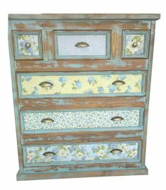46 veces he visto estas magníficas muebles vintage. Decoupage Furniture, Hand Painted Furniture, Paint Furniture, Furniture Design, Redoing Furniture, Small Furniture, Funky Furniture, Recycled Furniture, Shabby Chic Furniture