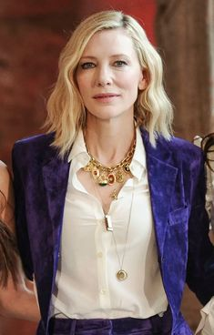 Look Fashion, Suit Fashion, Fashion Tips, Cate Blanchett Carol, Oceans 8, Actrices Hollywood, Beautiful Celebrities, Dandy, Suits For Women