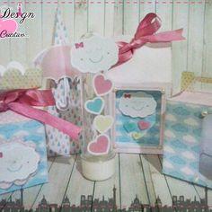 Anna Design - Kit arquivos de corte silhouette chuva de amor & bênção menina 01