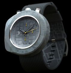 El diseñador Dzmitry Samal, el autor de las gafapasta pixelizadas, ha diseñado un reloj de hormigón, que no es ni ligero ni barato.