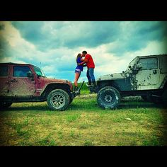 Relationship goals. Jeep love.