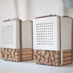 Joon & Jung design studio. Awesome, awesome product design. This image is of porcelain speakers (for awesome resonance).