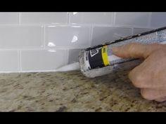 How To Install Caulk On A Kitchen Tile Backsplash - YouTube