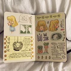 peachy-blonde:  journal p.3.  might be the last of these little drawings for a while, cuz i got a bigger moleskine and im ready to roll