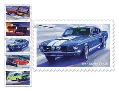 New Muscle Cars (Forever) stamps