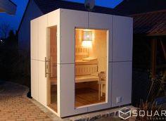 Gartensauna Modern stainless steel look outdoor design outdoor s
