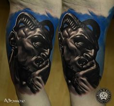 Portrait of the Devil Tattoo by A.D. Pancho Rock N' Roll Tattoo & Piercing Katowice Poland http://tattoopics.org/portrait-of-the-devil-tattoo-by-a-d-pancho/ #tattoo #devil #satan #evil #deviltattoo #ink #picture #photo #SatanPortrait