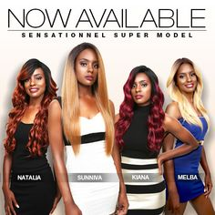 NOW AVAILABLE! WHAT EVERYONE HAS BEEN WAITING FOR!!! ❤️ Hair Item: HUMAN HAIR BLEND LACE FRONT WIG SUPER MODEL SERIES 3XL SWISS SILK BASED Natalia, Sunniva, Kiana, and Melba by @sensationnel_hair #sensationnel_hair #wig#hair #style #protectivestyles #blackgirlhair#naturalhair #blackgirlmagic#naturalhaircommunity #urbanhairpost#hairinspiration #beauty #trend Natural Looking Wigs, Natural Hair Styles, Lace Front Wigs, Lace Wigs, Diy Wig, Wigs Online, Super Model, Black Girls Hairstyles, Protective Styles