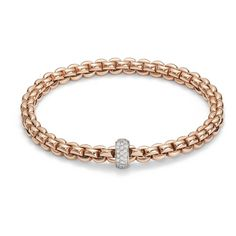 FOPE Bracelet FLEX'IT Olly 18ct Rose Gold And Diamond   C W Sellors Fine Jewellery and Luxury Watches