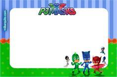 Decoración de PJ Masks o Héroes en Pijamas, Kit para imprimir gratis | Mi Barquito
