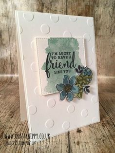 UK Stampin' Up! Demonstrator | make beautiful cards | Crafty Hippy: Create this floral card using the Share What You L...