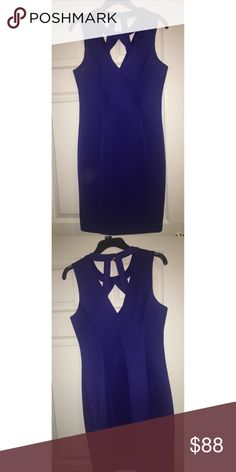 Guess Blue Sleeveless Cut Out Dress A beautiful blue dress that is the perfect length! Not too long and not too short. Classy with a bit of sexiness from the cutouts. Perfect for a variety of different events. In great perfect condition with the tags! Guess Dresses