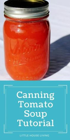 Canning Tips, Home Canning, Canning Recipes, Canning Tomato Soup, Canning Tomatoes, Italian Tomato Sauce, Old Fashioned Recipes, Hot Soup, How To Can Tomatoes