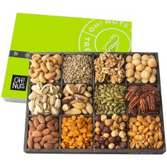 Nuts 12 Variety Mixed Nut Gift Basket, Holiday Freshly Roasted Healthy Gourmet Snack Gifts Premium Wood Tray Prime Christmas Food Baskets for Men Healthy Gourmet, Gourmet Recipes, Dog Food Recipes, Food Baskets For Christmas, Holiday Baskets, Gluten Free Gifts, Tostadas, Tapas, Snacks Saludables