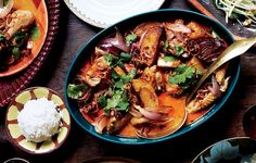 How to host a successful Thai dinner party including table setting ideas, menu, and recipes.