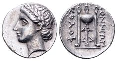 AR Hemidrachm. Greek, Ionia, Kolophon, Konnion magistrate. Circa 330-310 BC. 11mm, 1,51g, 11h. SNG Copenhagen 146. EF. Price realized (2.7.2016): 167 EUR.
