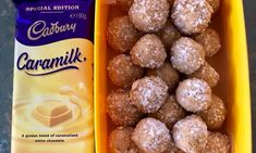 Home cook shares recipe for Caramilk chocolate bliss balls made in slow cooker internet going crazy Chocolate Diy, Cadbury Chocolate, How To Make Chocolate, Chocolate Boxes, Caramelized White Chocolate, Homemade Sweets, Bliss Balls, Christmas Baking, Food Porn