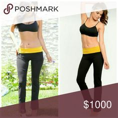 **New** Yoga Pants 95% Cotton  5% Spandex  These cute two-tone yoga pants features a semi-flared hem with comfy stretch knit fabric and stretch banded waist.   Price Firm Pants Leggings