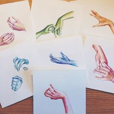 7 deadly sins ☝️ Art by Chelsea Blecha // www.chelseablecha.com #hands #art #illustration