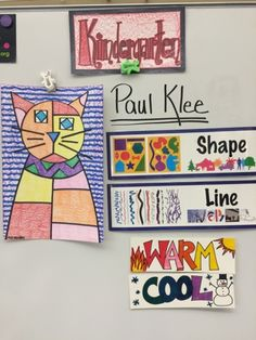 "Kindergarten artists read the book inspired by Paul Klee called, ""The Cat and the Bird."" We also looked at the image. First Grade Art, 2nd Grade Art, Kindergarten Art Lessons, Art Lessons Elementary, Elementary Art Education, Elementary Art Rooms, School Art Projects, Art School, Art Education Projects"