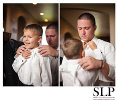 The Best Man and Ringbearer helping each other get Ready. OMG! So freakin' Cute! Must have this Shot!