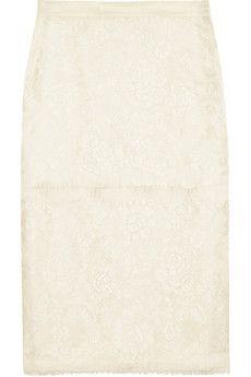 Lanvin Lace pencil skirt | NET-A-PORTER