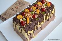 Inghetata casata cu ciocolata, nuca si fructe confiate | Savori Urbane