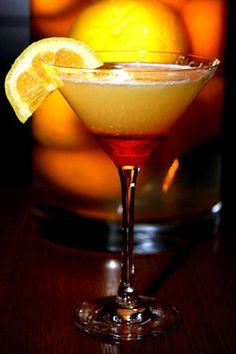 North Orange Martini    (1 1/2 oz. Hanger One Mandarin    3/4 oz. Crown Royal    1/2 oz. Peach Schnaaps    1/2 oz. Orange Juice    1/2 oz. Pineapple    1/2 oz. Grenadine)