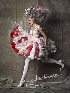 by Mladen Saric. Very Marie Antoinette Foto Fashion, Fashion Art, Fashion Design, Fashion Clothes, Marie Antoinette, Vogue, Mode Rococo, Rococo Style, Circus Fashion