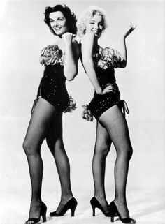 Marilyn Monroe & Jane Russell in 'Gentlemen Prefer Blondes', 1953
