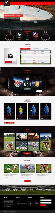 Pro Soccer is the Multipurpose template option for web developer or #football club, #soccer #club who needs a web template to promote and introduce their sports club #website. #adobe #muse