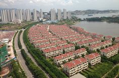 Where is everyone? The complex in Huizhou in Guangdong province in the southeast of China is one of the country's largest white elephants